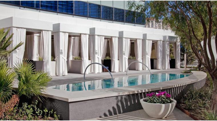 Vdara hotel & Spa Pool & Lounge Cabanas