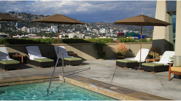 L'Ermitage Beverly Hills Pool With Scenic View